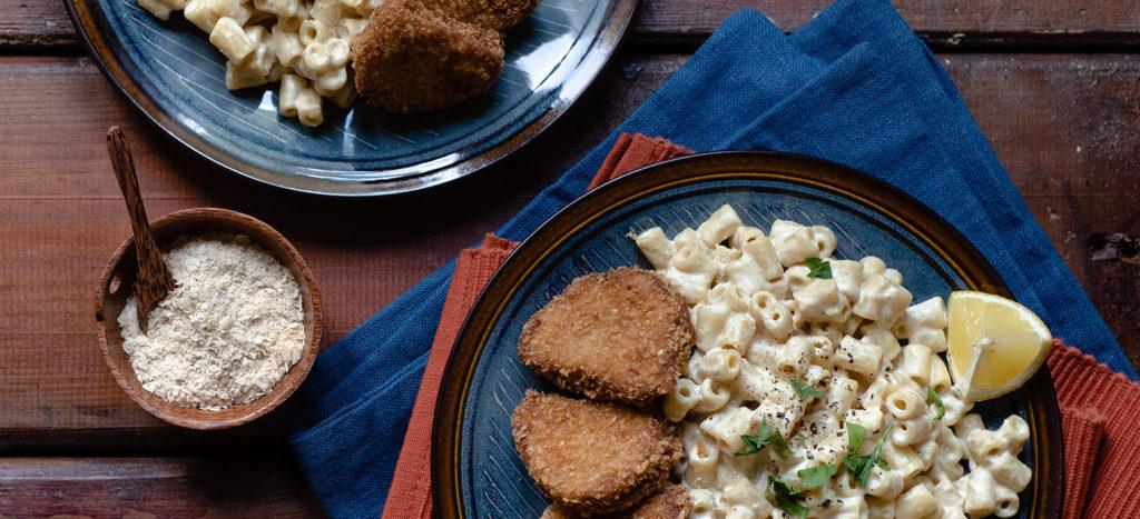 """συνταγή: Nuggets με Vegan Mac & """"Cheese"""""""